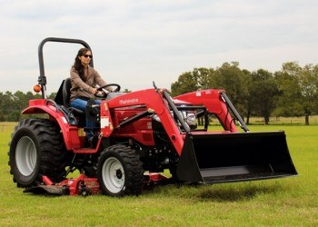 Woman Operating Mahindra 1526 Tractor