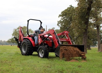 Mahindra Tractor With Backhoe