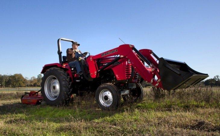 Mahindra 4550 Tractor with Mower
