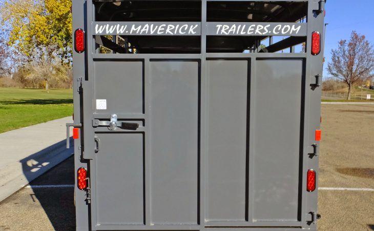 Maverick Stock Trailer Steel Rear Gate