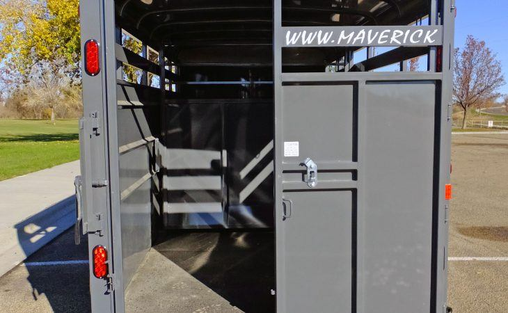 Maverick Stock Trailer Sliding / Swinging Rear Door