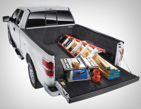 BedRug Bedliner in Truck with Equipment