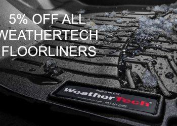 Weathertech floorliner 5% off graphic