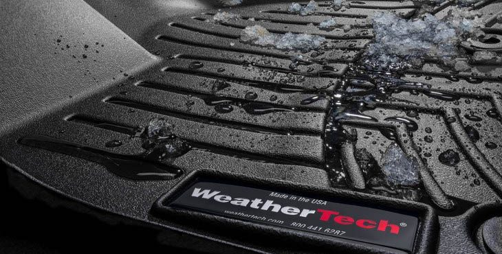 Close Up of weather-tech truck floor protector