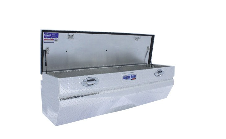 BetterBuilt SEC Beveled Chest Truck Box Open in Silver