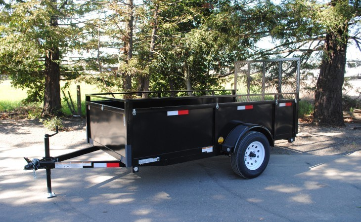 FabForm BX58-3KR Utility Box Trailer Front and Side