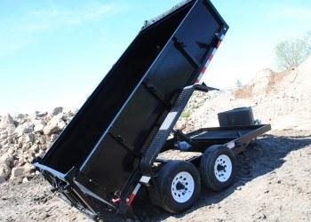 FabForm PT612-10KC Dump Trailer Lifted Side