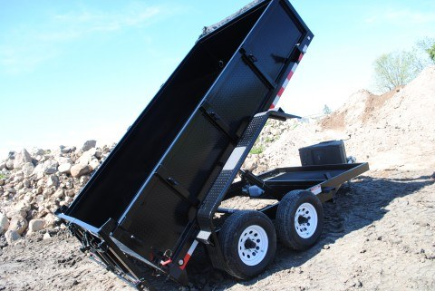 FabForm PT612-10KC Dump Trailer Lifted Side