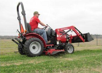 Man Using Mahindra Max 26 XL Tractor