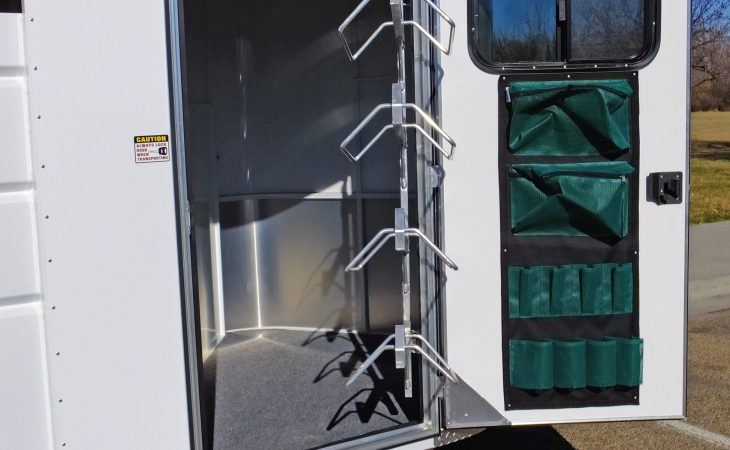 Swing Out Saddle Rack Maverick Horse Trailer