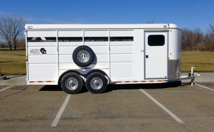 Maverick High Side Steel Horse Trailer Tack Room Side View