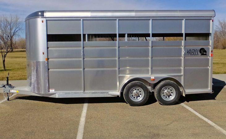 Mav Lite Horse Trailer Aluminum Side