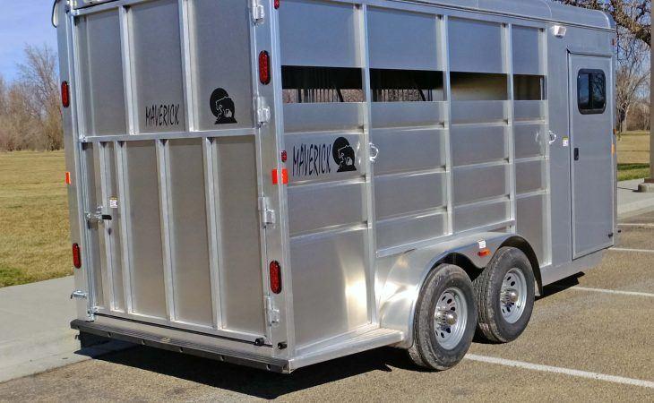 Mav Lite 3 Horse Trailer Open Sides