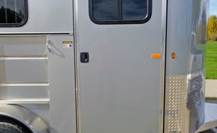 Mav Lite Deluxe Horse Trailer RV Style door