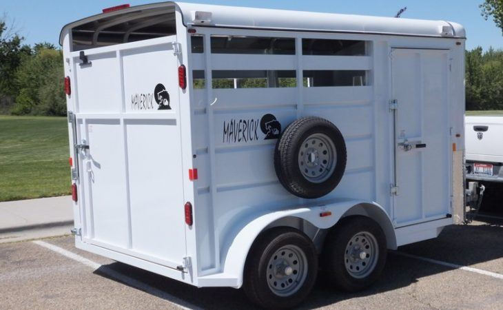 Tack Room Side View for Maverick 2 Horse 13' Trailer
