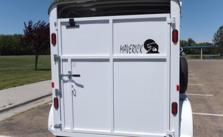 Maverick Horse Trailer Swinging Steel Rear Door