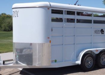 Maverick 2 Horse 13' Open Side View
