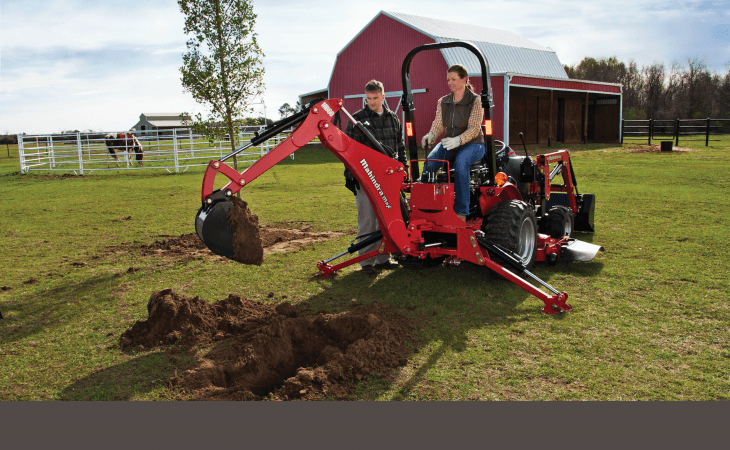 Mahindra eMax22 Tractor with Backhoe