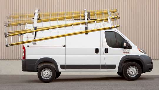 MaxRack Drop Down Ladder Racks for Vans