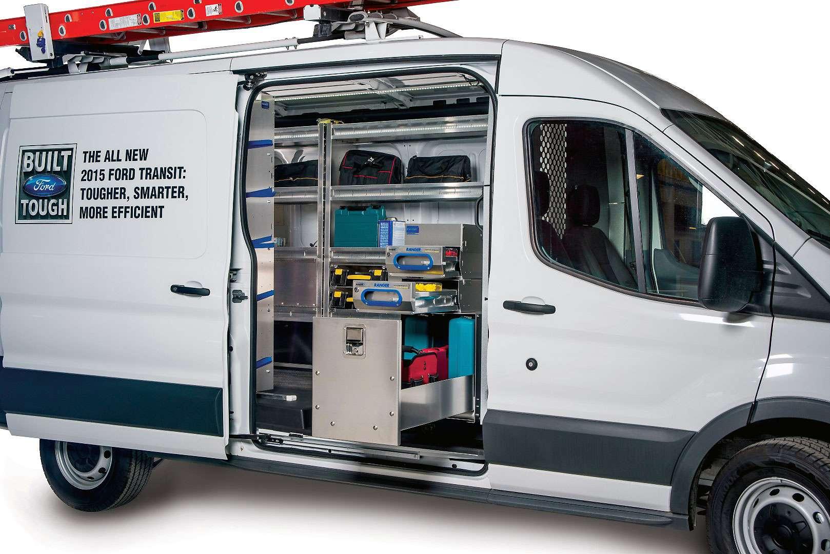 Ranger van drawers and cabinets van accessories - Commercial van interior accessories ...