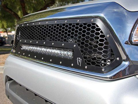 Rigid grill on tacoma