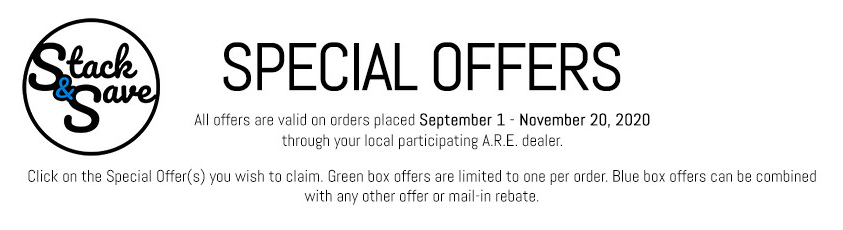 A.R.E. Monthly Specials 2020