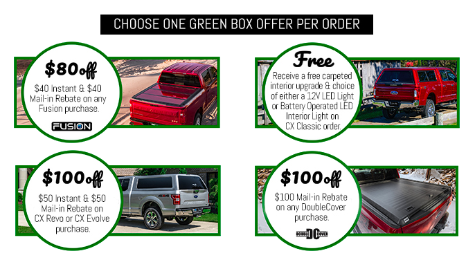 A.R.E. Green Box Pre-Order Monthly Specials 2020