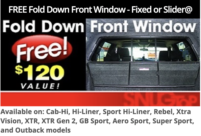 SnugTop FREE Fold Down Front Window Coupon