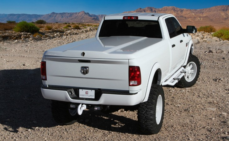 Century Silhouette Tonneau Cover Truck Accessory Back View