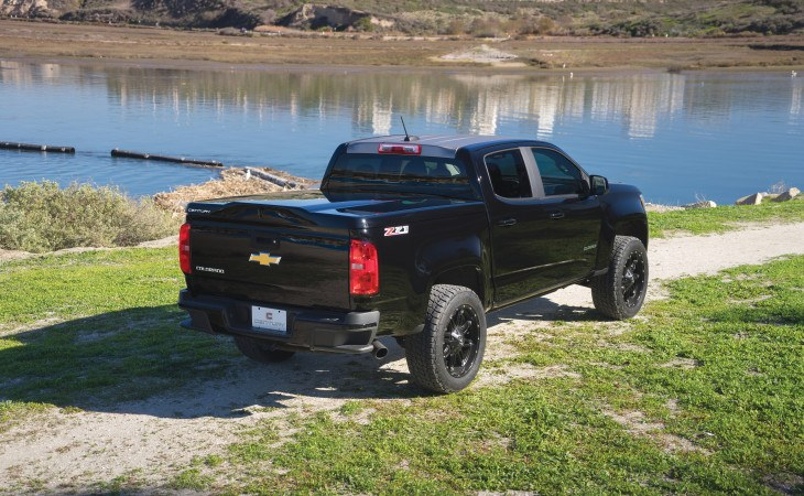 Century Silhouette Tonneau Cover Truck Accessory on Black Truck