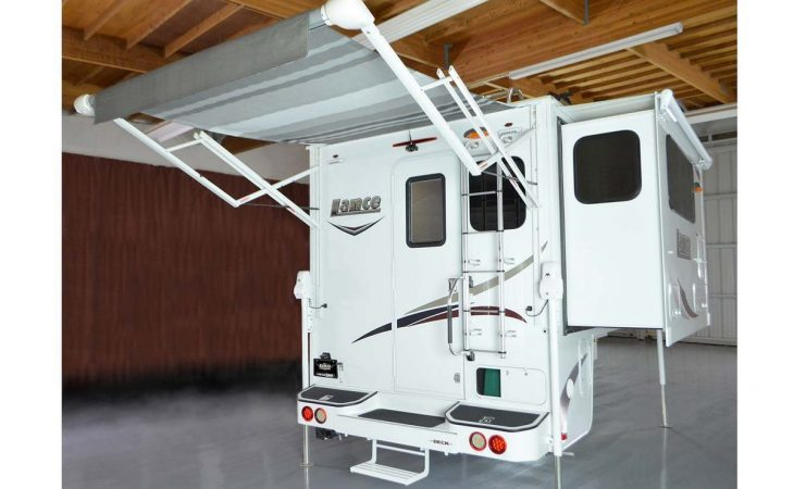Lance 1062 truck camper exterior retractable awning.