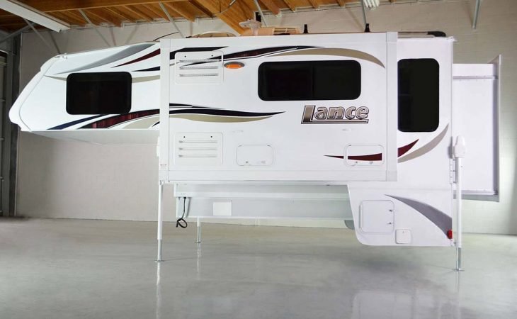 Lance 1172 truck camper exterior view.