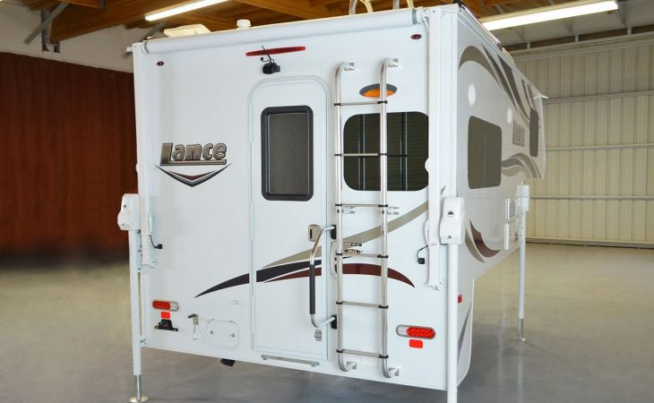 Lance 850 truck camper rear view.
