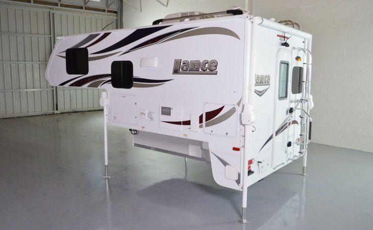 Lance 850 truck camper exterior side profile.