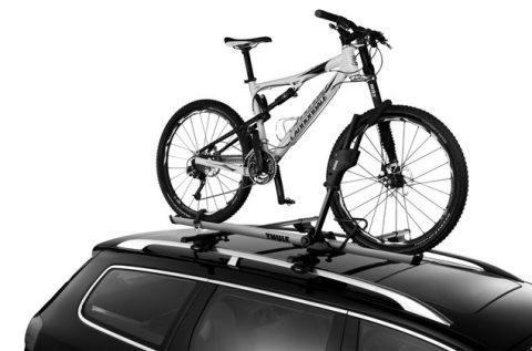 Thule roof bike rack wheel secure