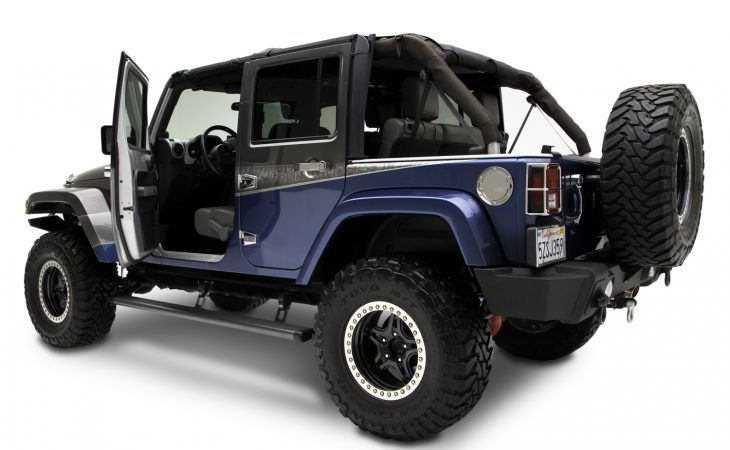 Amp Power Steps on Jeep