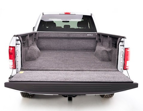 Pick up truck bed with rug bed liner