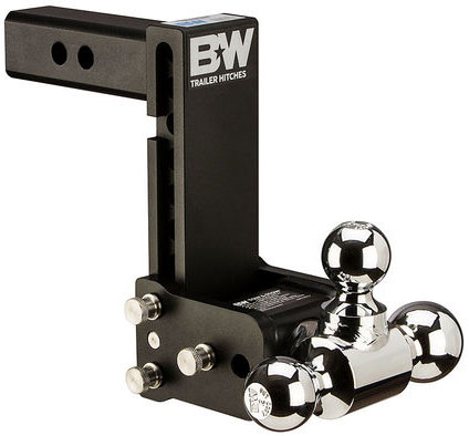 brand new black and shining silver ball mount for towing