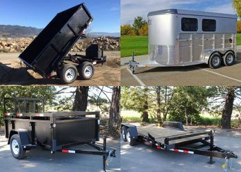 Enclosed, Utility Box, Dump, and Flat Bed Trailers