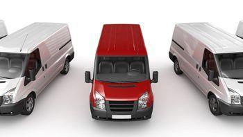 Fleet of cargo vans.