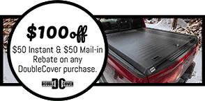 Truck bed cover by double cover.