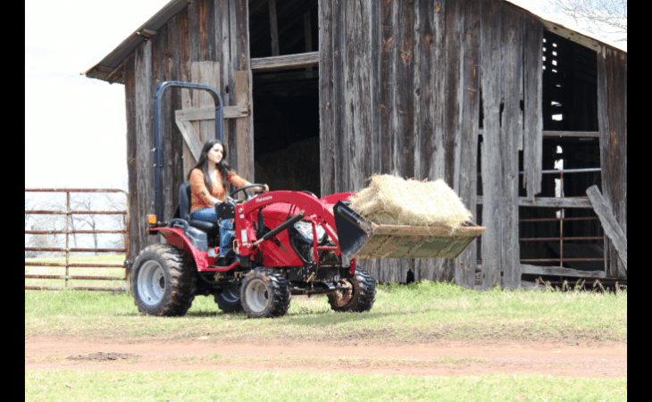 Mahindra eMax22 Tractor with Bucket