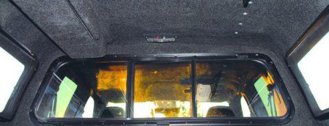 Headliner for pickup truck camper shells.