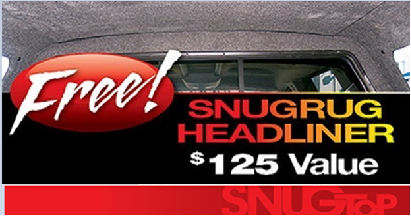 Ad for free pickup truck camper shell headliner