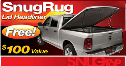 Ad for free pickup truck bed headliner.