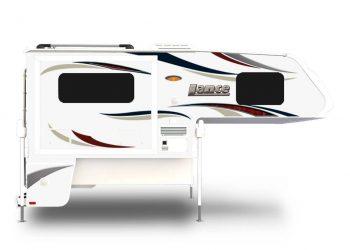 Lance 855s truck camper exterior side profile.