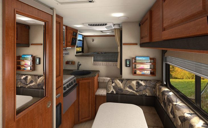 Lance 865 truck camper full interior view.