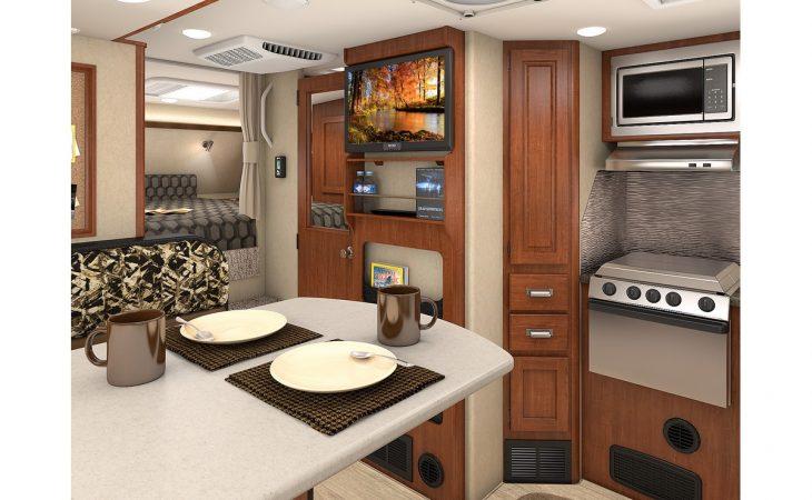 Lance 975 truck camper full interior view.