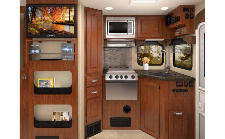 Lance 975 truck camper kitchenette.