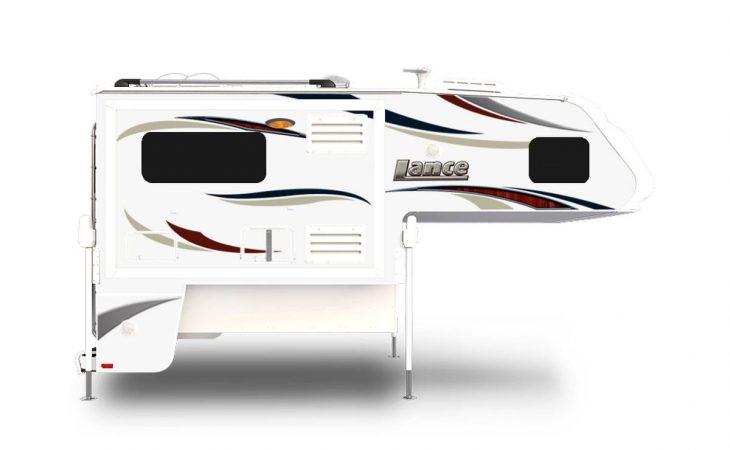 Lance 995 truck camper exterior side profile.